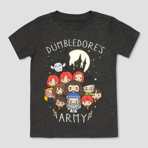 d5418b83a783a Toddler Boys  Harry Potter Dumbledore s Army Hogwarts Short Sleeve T-Shirt  - Black