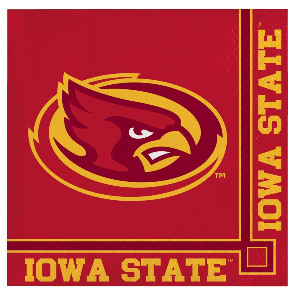 Image of 20ct Iowa State Cyclones University Cocktail Beverage Napkins