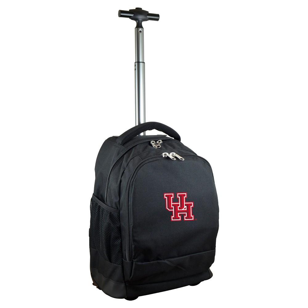 NCAA Houston Cougars Black Premium Wheeled Backpack