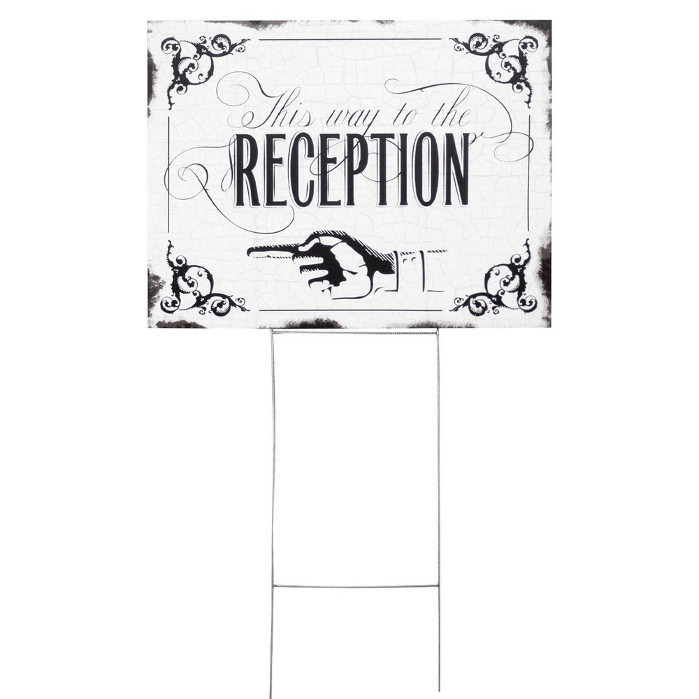 Wedding Reception Yard Sign This Way To The Reception