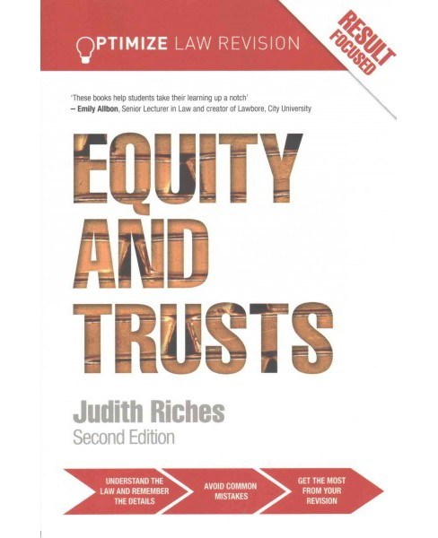 Optimize Equity and Trusts (Paperback) (Judith Riches) - image 1 of 1