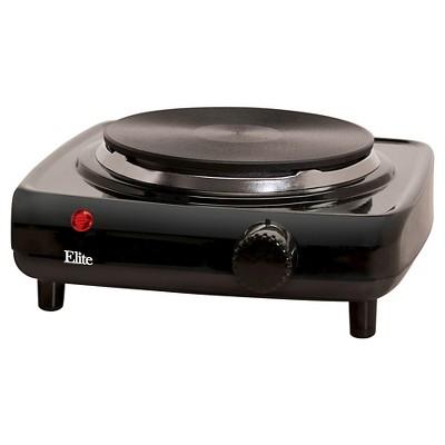 Elite Cuisine Electric Burner Hot Plate - Black