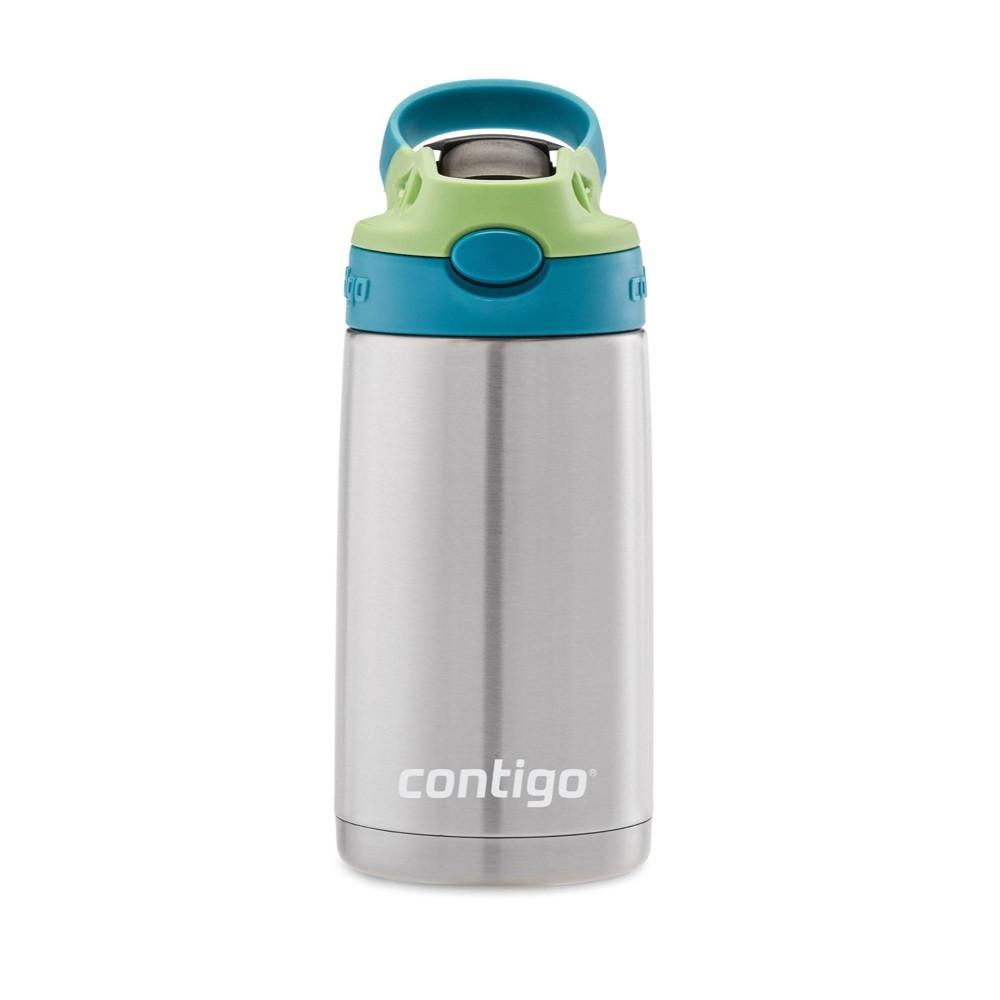 Contigo 13oz Stainless Steel Kids Autospout Water Bottle Teal, Blue