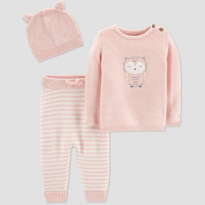 Baby Girls' 3pc Owl Collection Set - Just One You® made by carter's Pink 6M