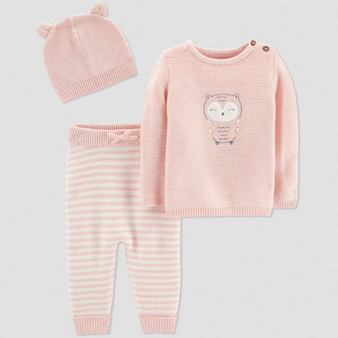 Baby Girls' 3pc Owl Collection Set - Just One You® made by carter's Pink - image 1 of 1
