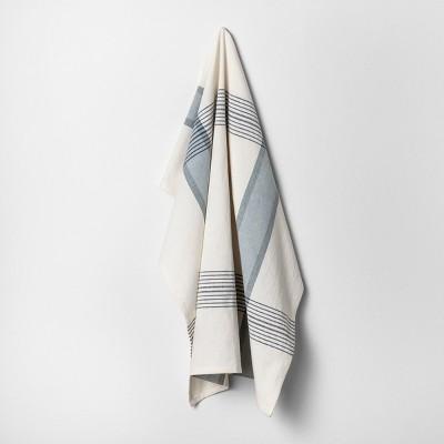 Flour Sack Kitchen Towel Plaid - Blue / White - Hearth & Hand™ with Magnolia