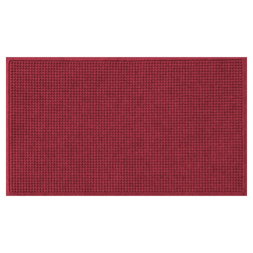 Cardinal (Red) Solid Doormat - (3'X5') - Bungalow Flooring