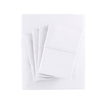 King 6pc 800 Thread Count Cotton Blend Sheet Set White