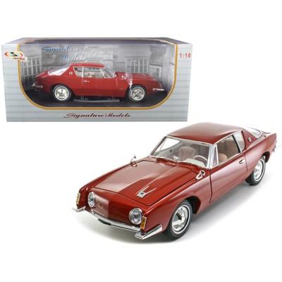 1963 Studebaker Avanti Maroon Red Metallic 1/18 Diecast Model Car by Signature Models