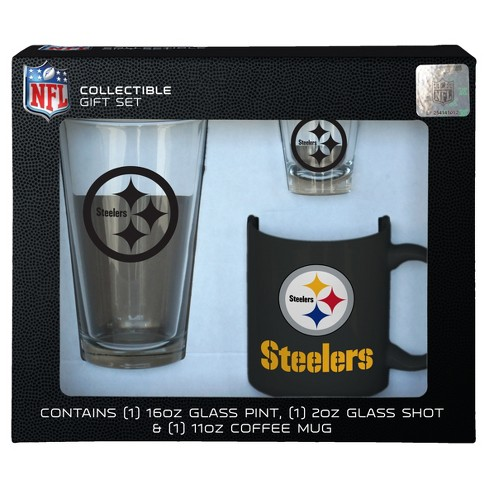 100% Quality Pgh 5 Steelers Glasses--