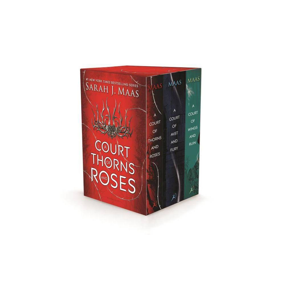 A Court of Thorns and Roses Box Set - by Sarah J Maas (Mixed media product) A thrilling game changer that's fiercely romantic, irresistibly sexy and hypnotically magical. . . . A flawless sequel that will once again leave us desperately clamoring for more, more, more. --USA Today on A COURT OF MIST AND FURY [T]he world is exquisitely crafted, the large cast of secondary characters fleshed out, the action intense, and the twist ending surprising, heartrending, and, as always, sure to guarantee readers' return. . . . When has Maas not churned out a best-seller? Her ongoing Throne of Glass series is enormously popular, and this sequel in an equally devoured new series is primed for similar success. --Booklist on A COURT OF MIST AND FURY An immersive, satisfying read. --Publishers Weekly on A COURT OF MIST AND FURY Hits the spot for fans of dark, lush, sexy fantasy. --Kirkus Reviews on A COURT OF MIST AND FURY Passionate, violent, sexy and daring . . . A true page-turner, A Court of Thorns and Roses will envelop you in its telling, intriguing and delighting you in turn . . . Not to be missed! --USA Today on A COURT OF THORNS AND ROSES Suspense, romance, intrigue and action. This is not a book to be missed! --Huffington Post on A COURT OF THORNS AND ROSES Simply dazzles. . . . the clamor for a sequel will be deafening. --starred review, Booklist on A COURT OF THORNS AND ROSES Gender: unisex.