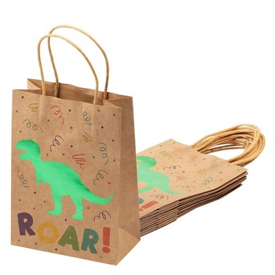 Dinosaur Birthday Party Supplies, Paper Goodie Bags (24 Pack)