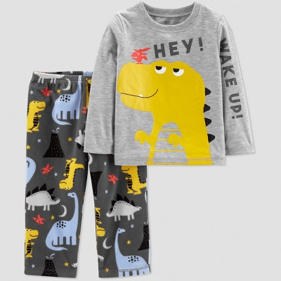 Baby Boys' Dino Wake Up 2pc Pajama Set - Just One You® made by carter's Gray 18M