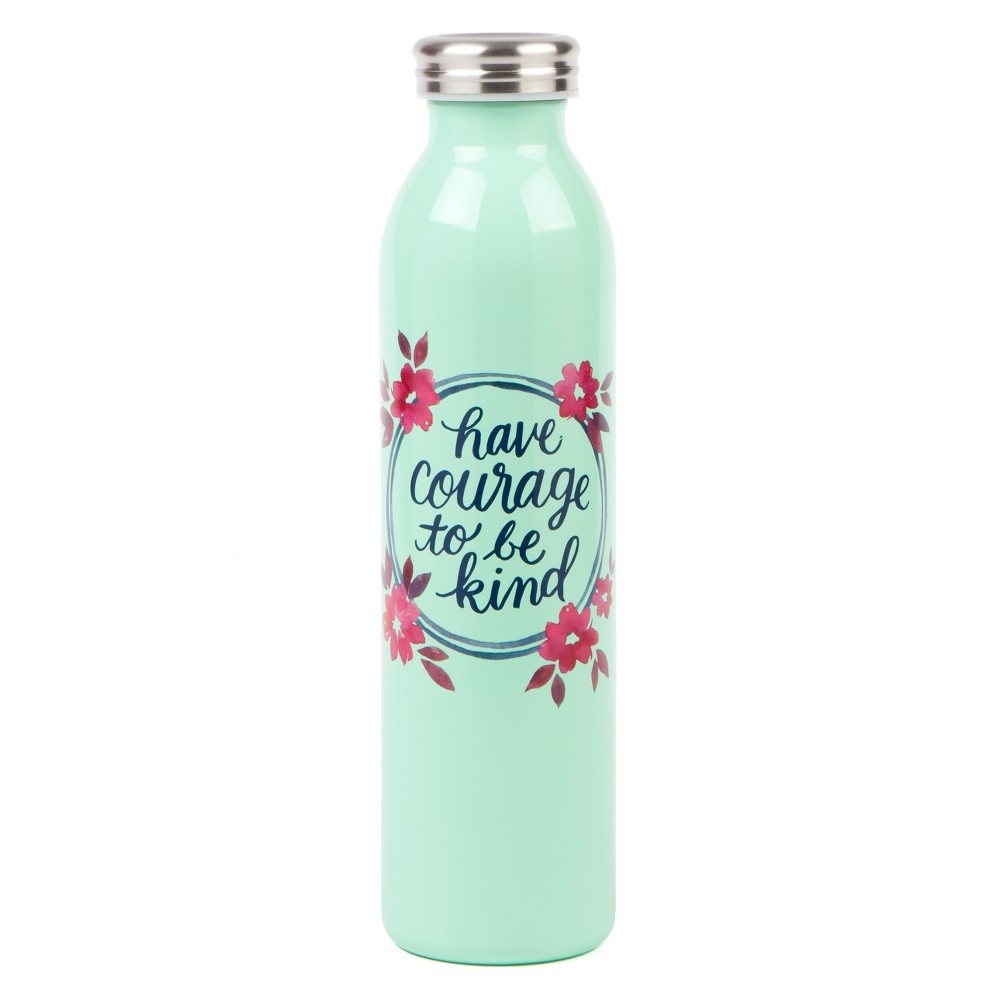 Courage to be Kind Water Bottle 20oz - Teal (Blue)