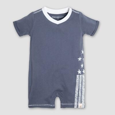 Burt's Bees Baby® Boys' Organic Cotton Stars and Stripes Shortall - Blue 0-3M
