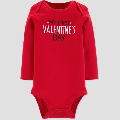 Baby My First Valentines Bodysuit - Just One You® made by carter's Red 9M