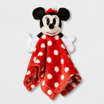 Junk Food Baby Girls' Disney Mickey Mouse & Friends Minnie Mouse Security Blanket - Red