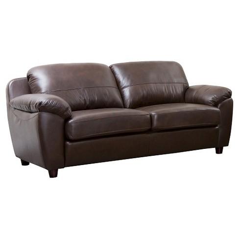 Verano Leather Sofa Brown Abbyson Living