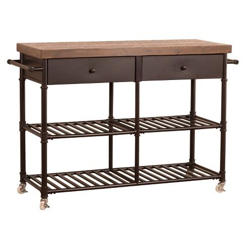 Casselberry Kitchen Cart Brown/Walnut - Hillsdale Furniture - image 1 of 4