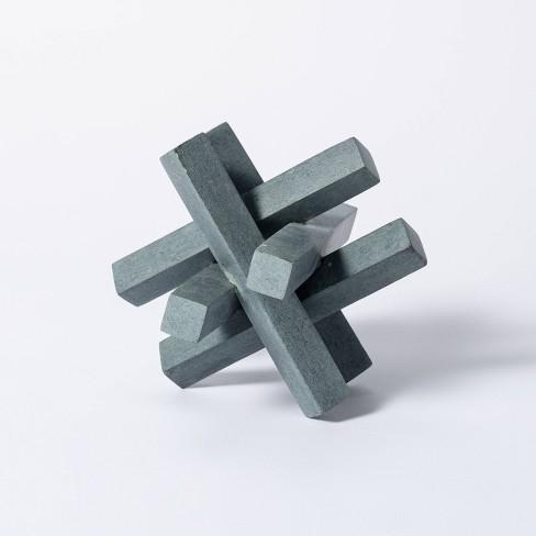 "6"" Decorative Soapstone Puzzle Figurine Gray - Threshold™ designed with Studio McGee - image 1 of 4"