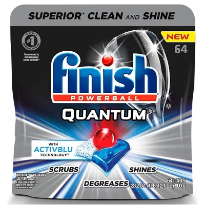 Finish Quantum Ultimate Clean & Shine Dishwasher Detergent Tablets - 64ct