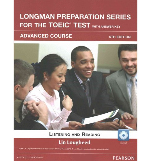 Longman Preparation Series for the Toeic Test+ L/R Adv. With Cd-rom + Audio With Answer Key (Paperback) - image 1 of 1