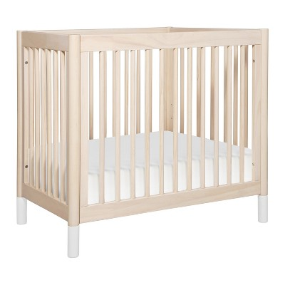 Babyletto Gelato 2-in-1 Convertible Mini Crib and Toddler Bed - Washed Natural/White