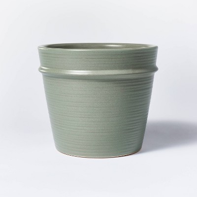 """7"""" x 8"""" Earthenware Tabletop Planter Gray - Threshold™ designed with Studio McGee"""