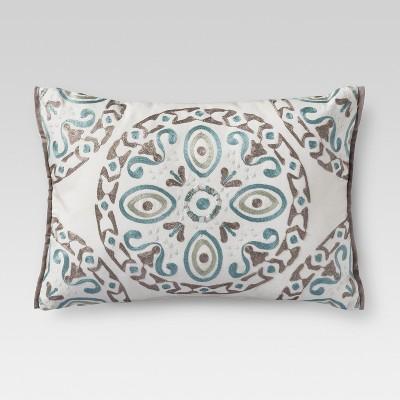 Cream Medallion Lumbar Pillow (14 x20 )- Threshold™
