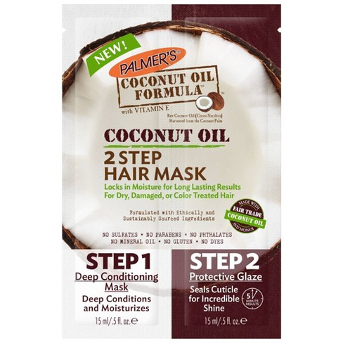 Palmer's Coconut Oil 2-Step Hair Mask - 0.5 fl oz - image 1 of 4