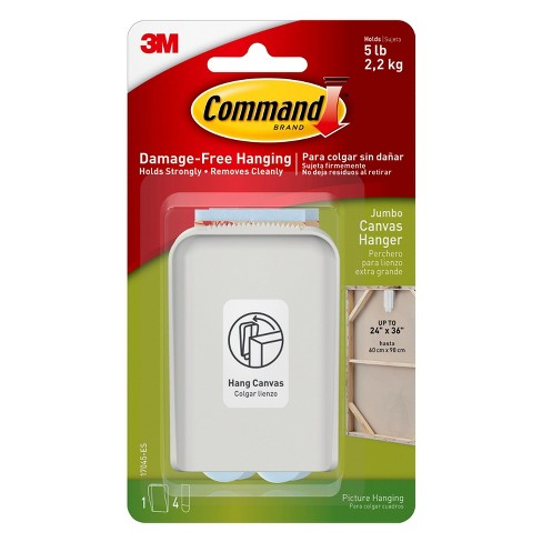 Command™ Jumbo Canvas Hanger, 1/pk - image 1 of 7