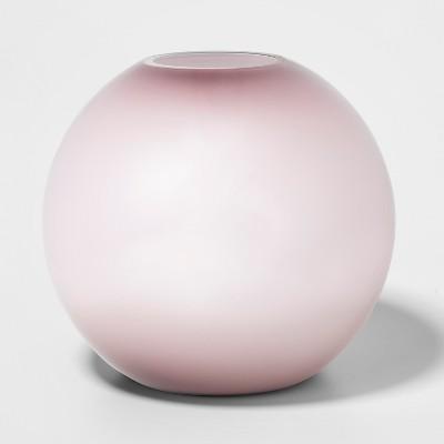 10.8  x 9.8  Decorative Glass Bowl Vase Purple - Project 62™