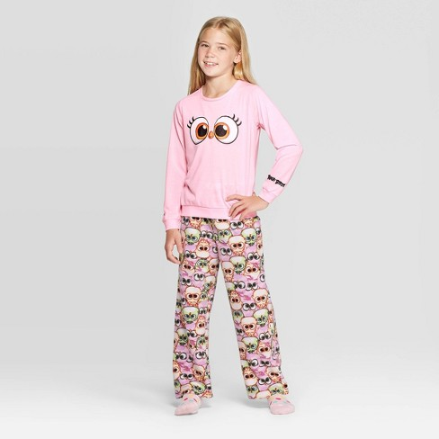 Girls' Angry Birds Stella 2pc Pajama Set - Pink - image 1 of 3