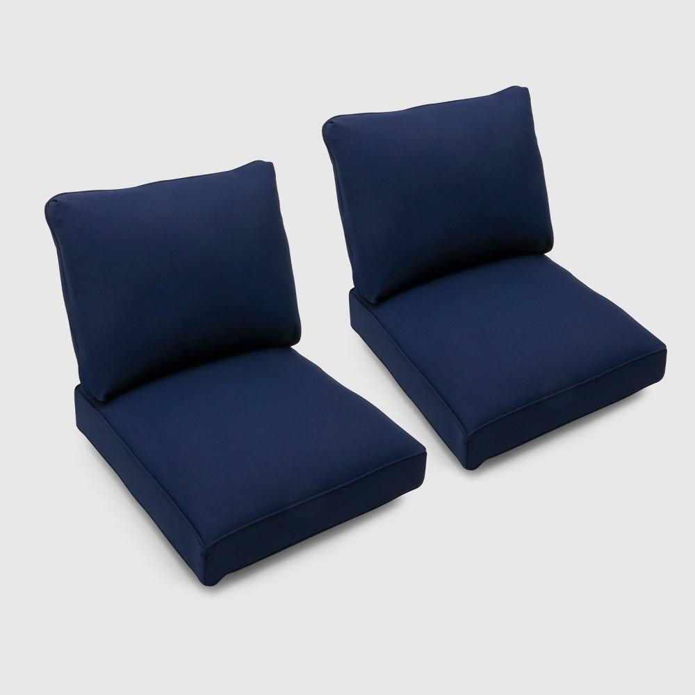 Bar Harbor 2pk Loveseat Cushions Navy (Blue) - Threshold