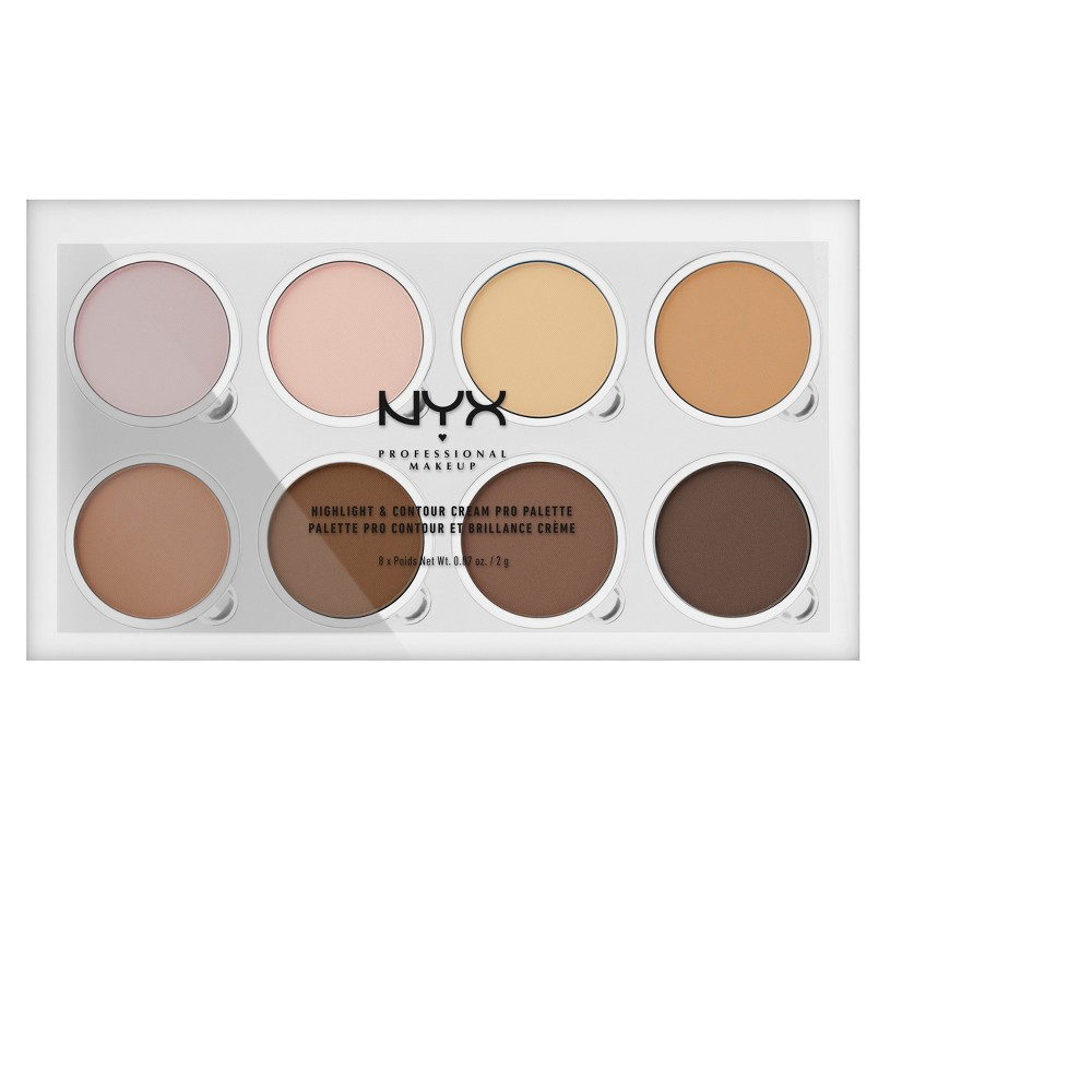Nyx Professional Makeup Highlight & Contour Cream Professional Palette 0.72oz, Cream Pro Palette