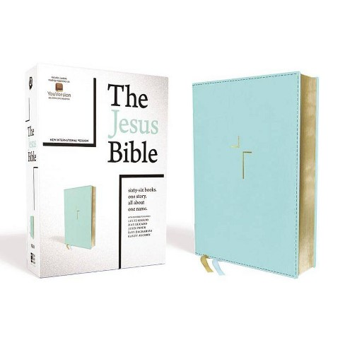 The Jesus Bible, NIV Edition, Leathersoft, Blue, Comfort Print - by  Zondervan (Leather_bound) - image 1 of 1