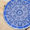 Slate Ceramic Tile Side Table - Blue/White - Christopher Knight Home - image 3 of 4