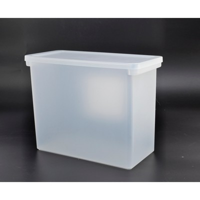 Plastic Hanging File Crate with Lid 13x6.5x13 Clear - Made By Design™