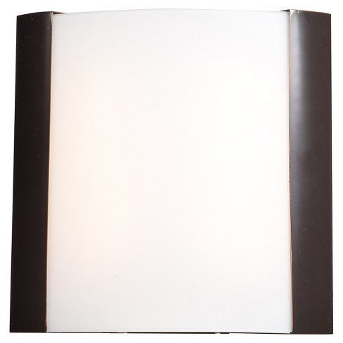 "West End 13""H LED Wall Sconce - Bronze - Opal Glass Shade - image 1 of 3"
