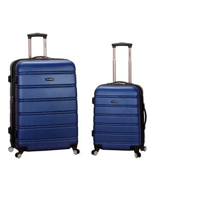 Rockland Melbourne 2pc Expandable ABS Spinner Luggage Set - Blue