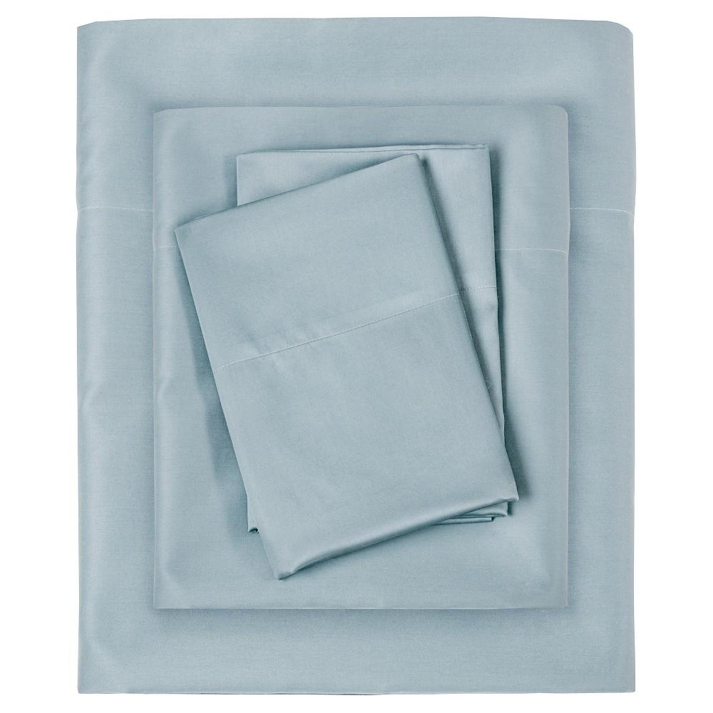 Liquid Cotton Sheet Set (Queen) Blue
