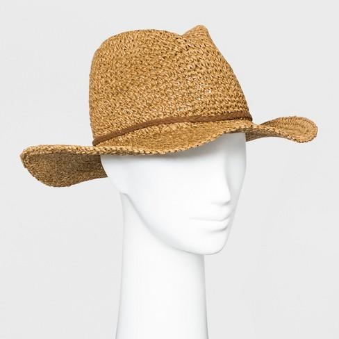 Women's Panama Hat - Universal Thread™ Brown - image 1 of 1
