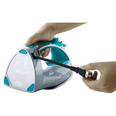 Sunbeam Steamaster Iron With Retractible Cord - Teal, Silver Blue