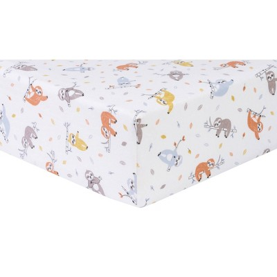 Trend Lab Slothing Around Flannel Fitted Crib Sheet