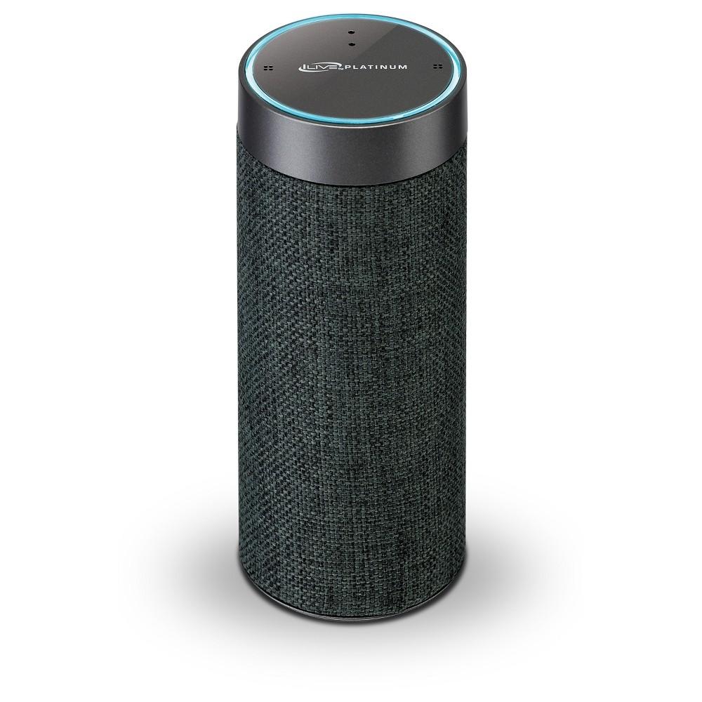 iLive Voice Activated Amazon Alexa Portable Wireless Fabric Smart Speaker - Grey (ISWFV387G), Gray