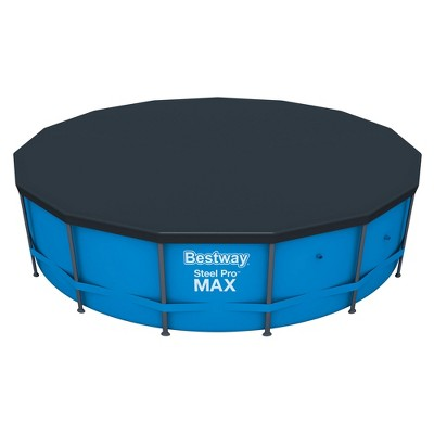 Flowclear 15 Foot Round Steel Pro MAXTM Above Ground Swimming Pool Cover, Black