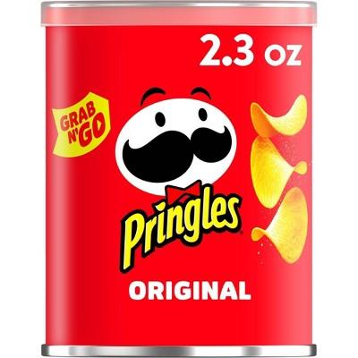 Pringles Grab & Go Large Original Potato Crisps Chips - 2.3oz