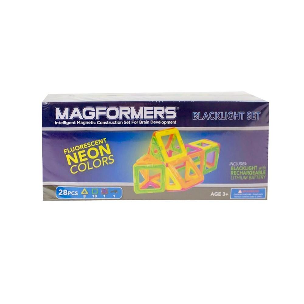 Magformers Neon 28 PC Blacklight Set