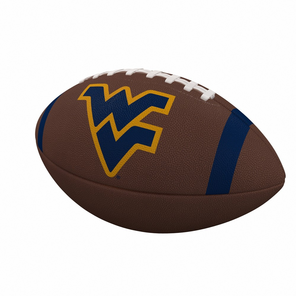 NCAA West Virginia Mountaineers Team Stripe Official-Size Composite Football