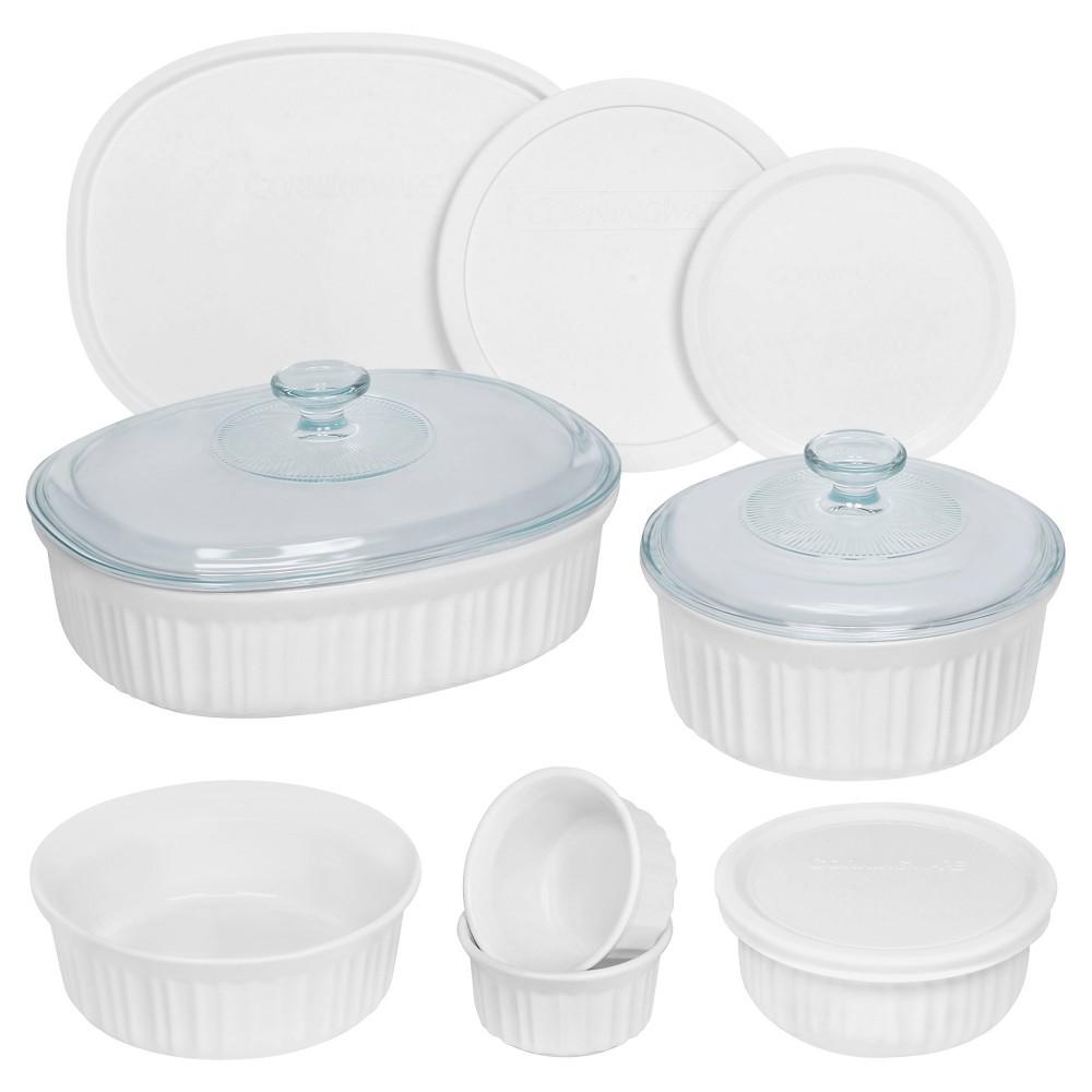 Image of Corningware 12 Piece Mixed Bakeware Set, White